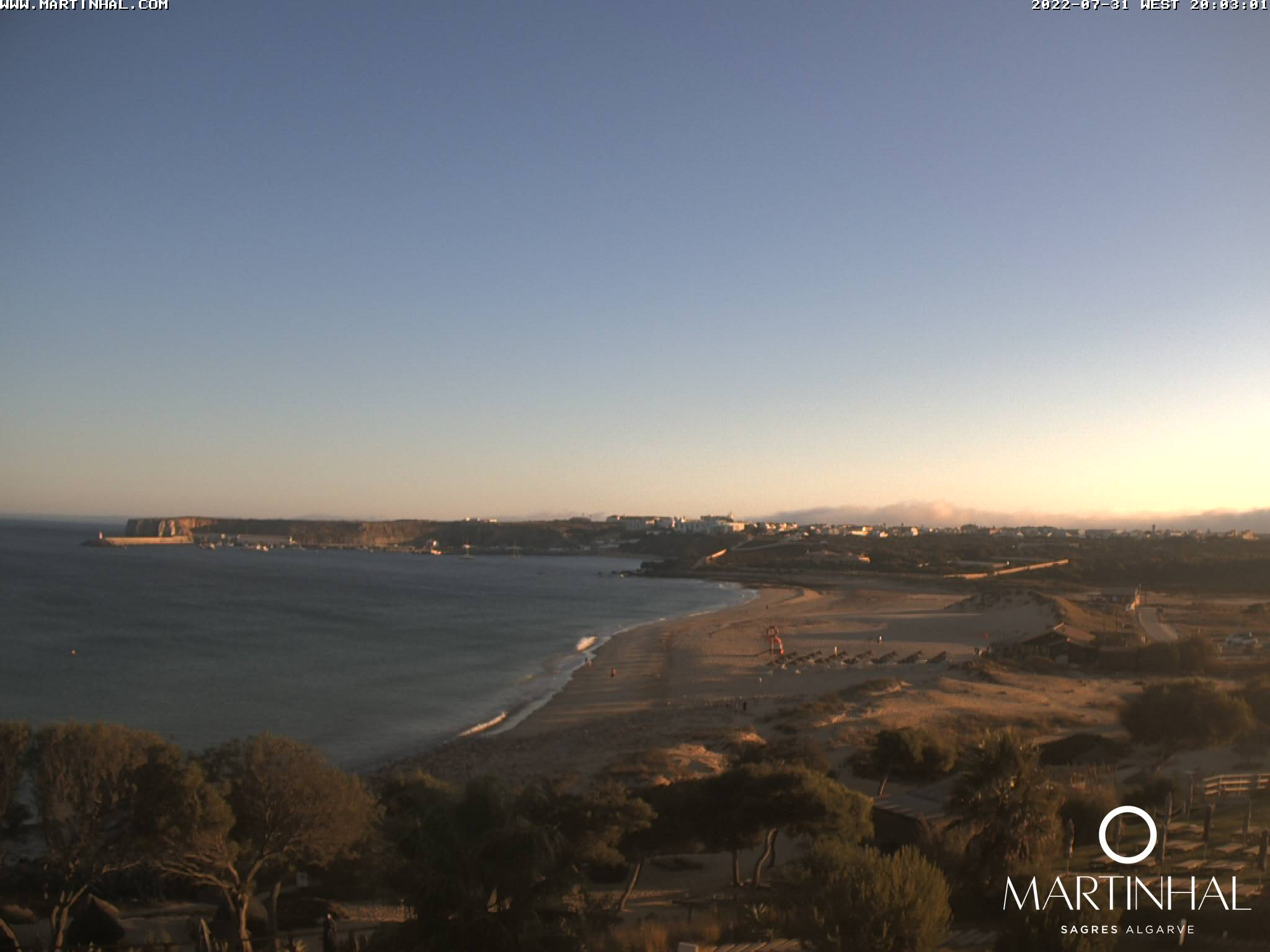 Webcam Sagres Algarve Portugal 8pm